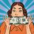 dinero · negocios · retro · mujer · dólar · arte · pop - foto stock © studiostoks