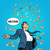 business concept success businessman flying money stock photo © studiostoks
