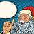 santa claus resembles pop art retro illustration stock photo © studiostoks