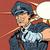 öfkeli · polis · karikatür · polis · memuru · mavi · İrlandalı - stok fotoğraf © studiostoks