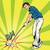 jogador · de · golfe · vetor · golfball · grama · golfe - foto stock © studiostoks