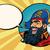 happy pirate with a parrot pop art comic bubble stock photo © studiostoks