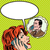 nina · teléfono · hablar · arte · pop · vintage · cómico - foto stock © studiostoks