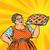 old joyful retro woman with berry pie stock photo © studiostoks