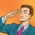 успешный · ретро · бизнесмен · комического · Поп-арт · служба - Сток-фото © studiostoks