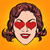 retro emoji love heart woman face stock photo © studiostoks