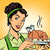 woman hot dish bird potatoes stock photo © studiostoks