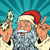 santa claus with money new year and christmas stock photo © studiostoks
