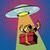 űr · támadás · UFO · pop · art · retro · idegen - stock fotó © studiostoks