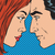 man and woman looking at each other face pop art comics retro st stock photo © studiostoks
