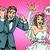 happy bride and groom with wedding rings stock photo © studiostoks