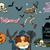 boldog · halloween · boszorkánykalap · seprű · kés · sütőtök - stock fotó © studiostoks
