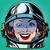 emoticon joy smile emoji face woman astronaut retro stock photo © studiostoks