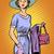 mujer · de · negocios · arte · pop · estilo · retro · hermosa · mujer · de · negocios - foto stock © studiostoks
