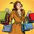 komische · cartoon · gelukkig · 1950 · vrouw · retro - stockfoto © studiostoks