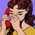 woman speaks on the phone pop art comics retro style halftone stock photo © studiostoks