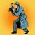 レトロな · パパラッチ · 写真 · 1940 · スタイル · カメラマン - ストックフォト © studiostoks