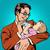 bebek · maması · ince · hat · vektör · web - stok fotoğraf © studiostoks
