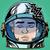 emoticon sleep emoji face man astronaut retro stock photo © studiostoks