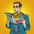 man reads comic book stock photo © studiostoks