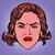 retro emoji wicked contempt woman face stock photo © studiostoks