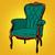 yeşil · sandalye · mobilya · örnek · beyaz · dizayn - stok fotoğraf © studiostoks