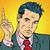 businessman pointing finger up stock photo © studiostoks