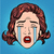 retro emoji tears crying sorrow woman face stock photo © studiostoks