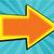 комического · Cartoon · слизистый · стрелка · символ · ретро - Сток-фото © studiostoks