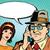 vintage · paar · man · vrouw · praten · telefoon - stockfoto © studiostoks