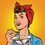 комического · Cartoon · женщину · еды · ретро - Сток-фото © studiostoks