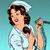 hemşire · bana · pop · art · Retro · kadın - stok fotoğraf © studiostoks