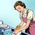 háziasszony · mosogatás · konyha · nő · ház · otthon - stock fotó © studiostoks