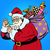 santa claus with gift bag okay gesture stock photo © studiostoks