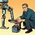 robot · vs · emberi · emberiség · technológia · pop · art - stock fotó © studiostoks