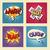 set of retro comic bubbles pop art phrases vector stock photo © studiostoks