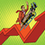 zakenman · groei · charts · verkoop · pop · art · retro - stockfoto © studiostoks