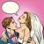 esküvői · meghívó · pár · vektor · rajz · menyasszony · vőlegény - stock fotó © studiostoks