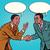 искусства · дипломатия · Cartoon · иллюстрация · два · говорить - Сток-фото © studiostoks