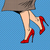 komik · karikatür · bacaklar · Retro · stil - stok fotoğraf © studiostoks