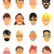 personas · caras · vector · mujeres - foto stock © studioworkstock