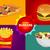 ピザ · 食品 · メニュー · バナー · テンプレート - ストックフォト © studioworkstock