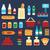 compras · ícones · vetor · comida - foto stock © studioworkstock