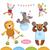 vector · ingesteld · circus · dieren · cute · cartoon - stockfoto © studioworkstock