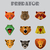predator animals icons vector format stock photo © studioworkstock
