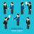 conjunto · isolado · projeto · pessoas · ícone · social - foto stock © studioworkstock
