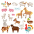 vector illustration of farm animals stock photo © studioworkstock