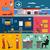 spedizione · logistica · infografica · due · colore - foto d'archivio © studioworkstock