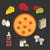 вектора · пиццы · Ингредиенты · продовольствие · сыра · красный - Сток-фото © studioworkstock