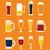 cerveza · gafas · establecer · vidrio · botella · vector - foto stock © studioworkstock